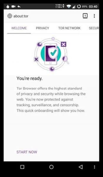 Запуск браузера Tor на Android